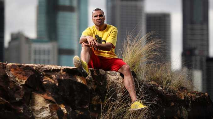 Anthony Mundine training in Brisbane. Picture: Peter Wallis