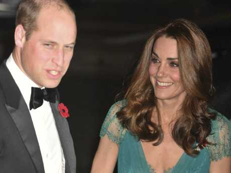 The Duchess, a mother-of-three, looked absolutely stunning in the Jenny Packham dress and her signature blow wave. Picture: John Stillwell/PA via AP