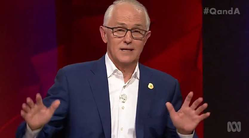 Malcolm Turnbull spoke out against the leaders of the 'insurgency' that caused the leadership spill against him on the ABC's Q&A program last night. Picture: ABC,