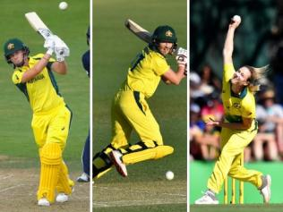 Elyse Villani, Meg Lanning, Elysse Perry and Tayla Vlaeminck are part of perhaps Australia's strongest women's side ever.