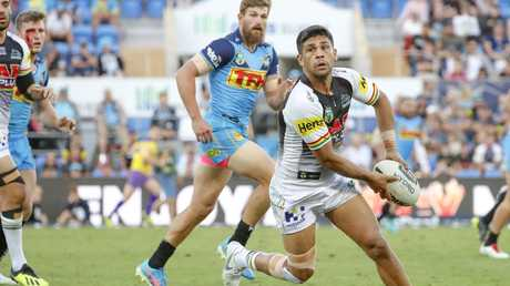 Peachey at Cbus Super Stadium in August in Panthers colours. Picture: AAP Image