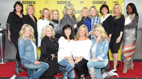 "Former Dallas Cowboys Cheerleaders attend the ""Daughters of the Sexual Revolution: The Untold Story of the Dallas Cowboys Cheerleaders"" premiere."