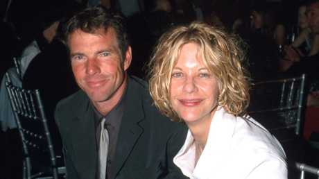 Ryan and previous husband, Dennis Quaid. Picture: Kevin Mazur/WireImage