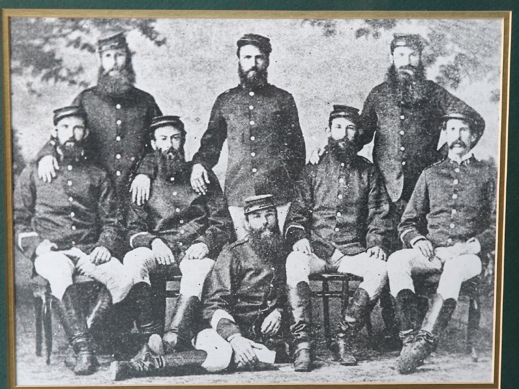 A print from the museum in Redfern shows the police crew that caught Captain Moonlite. Picture: Richard Dobson