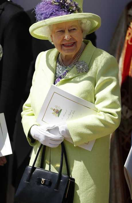 Queen Elizabeth II smiles after the wedding. Picture: WPA Pool/Getty