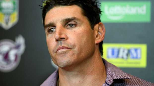Trent Barrett is in an awkward situation.