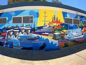 Artist honours fallen in mural