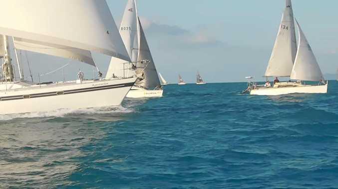 GREAT SAILING: High Tide, Aquatarius and Kameruka having a close battle in the Twilight Racing series.
