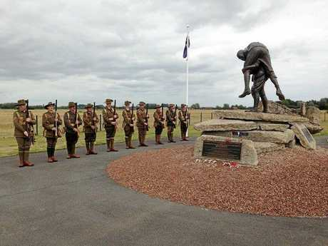 The Living History Unit at Australian Memorial Park in Fromelles.