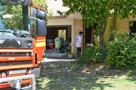 BEDROOM DESTROYED: A fire broke out in a Sunshine Beach home aftere a TV 'exploded'.