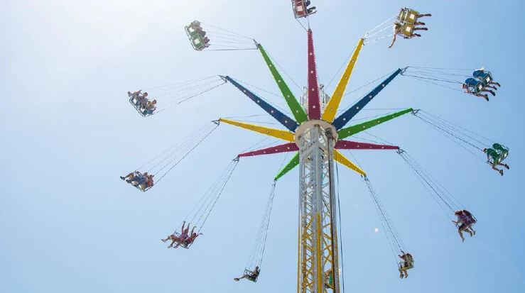 """The """"Sky Flyer"""" stretches 33 metres up into the air. Photo: Supplied"""