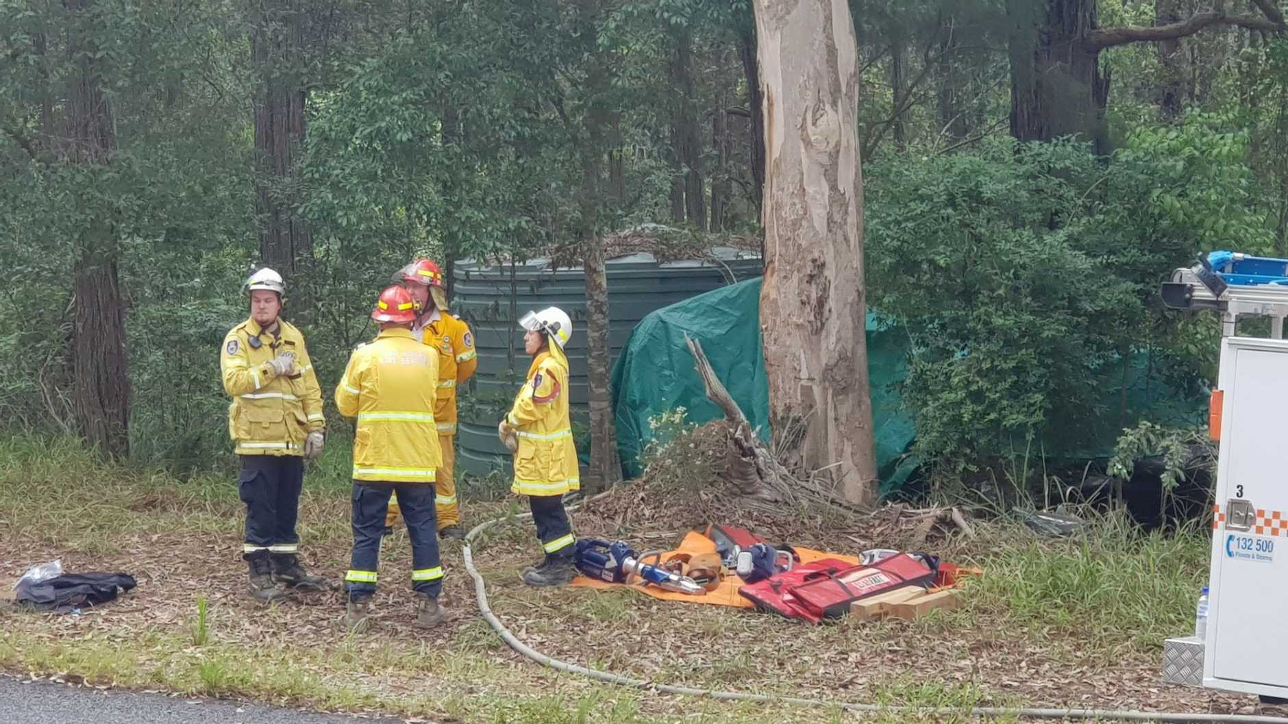 A woman has died and two people have suffered serious injuries after a fatal van rollover on Bucca Rd.