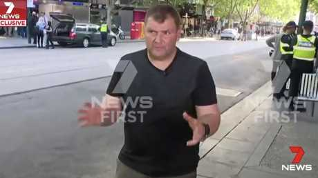 """Trolley man"" spoke to 7 News about the ordeal."