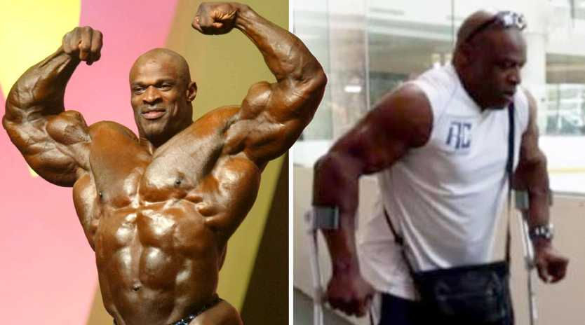 Ronnie Coleman: Then and now. Picture: Peter Brooker/REX/Shutterstock and Netflix