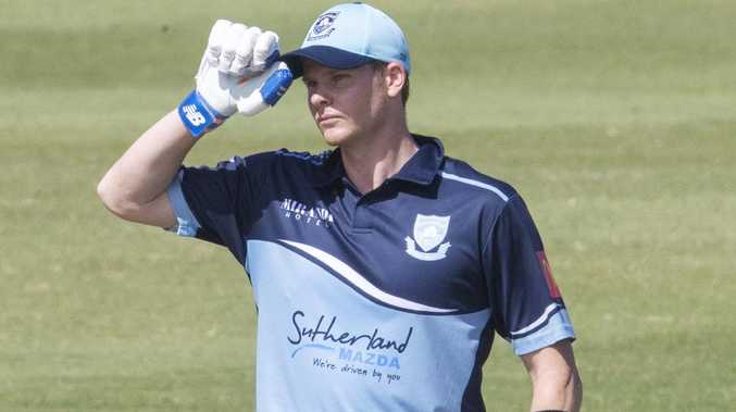Steve Smith dismissed in Sutherland's clash against Randwick-Petersham. Picture: Jenny Evans