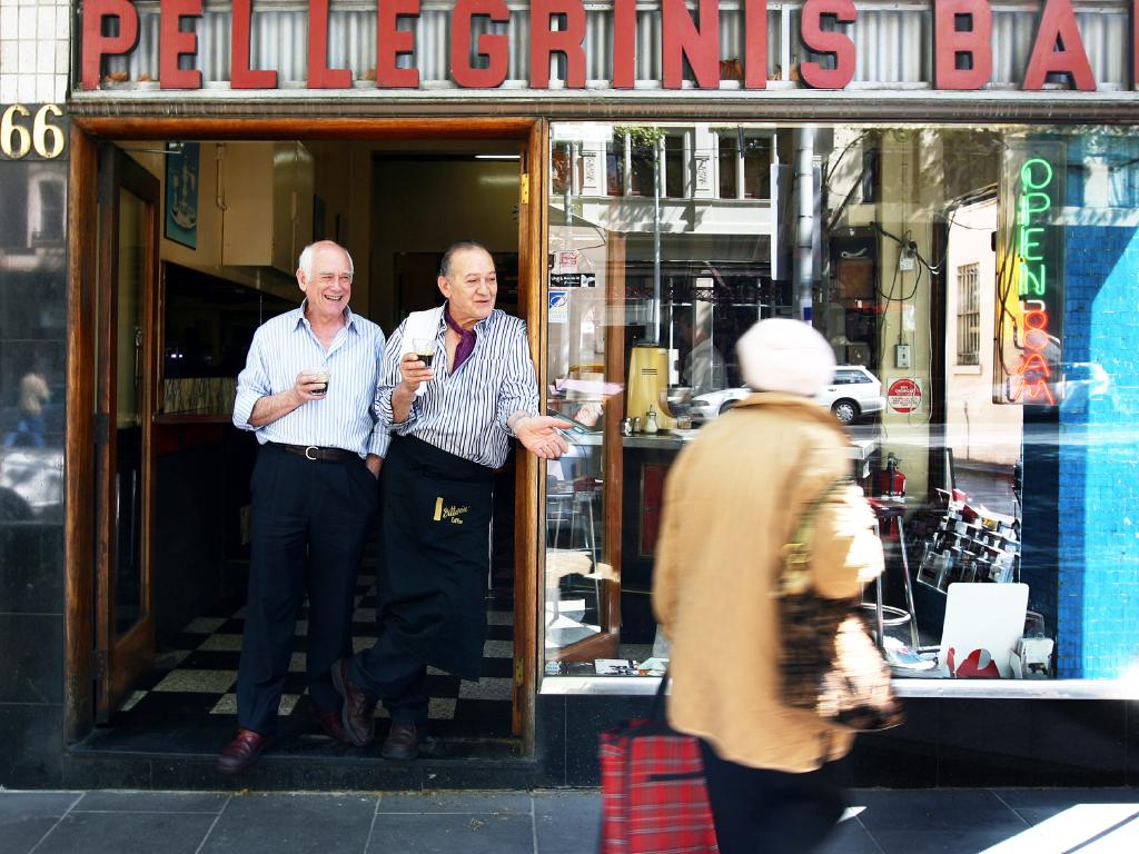Nino Pangrazio and Sisto Malaspina at their iconic eatery.
