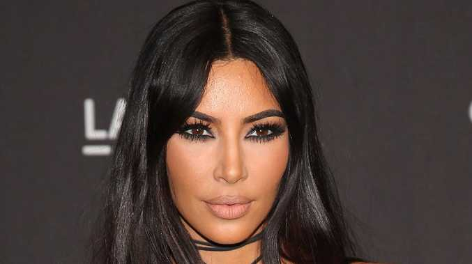KimKardashian was given one hour to evacuate from her home after the California fires raged on.  Picture:  AFP