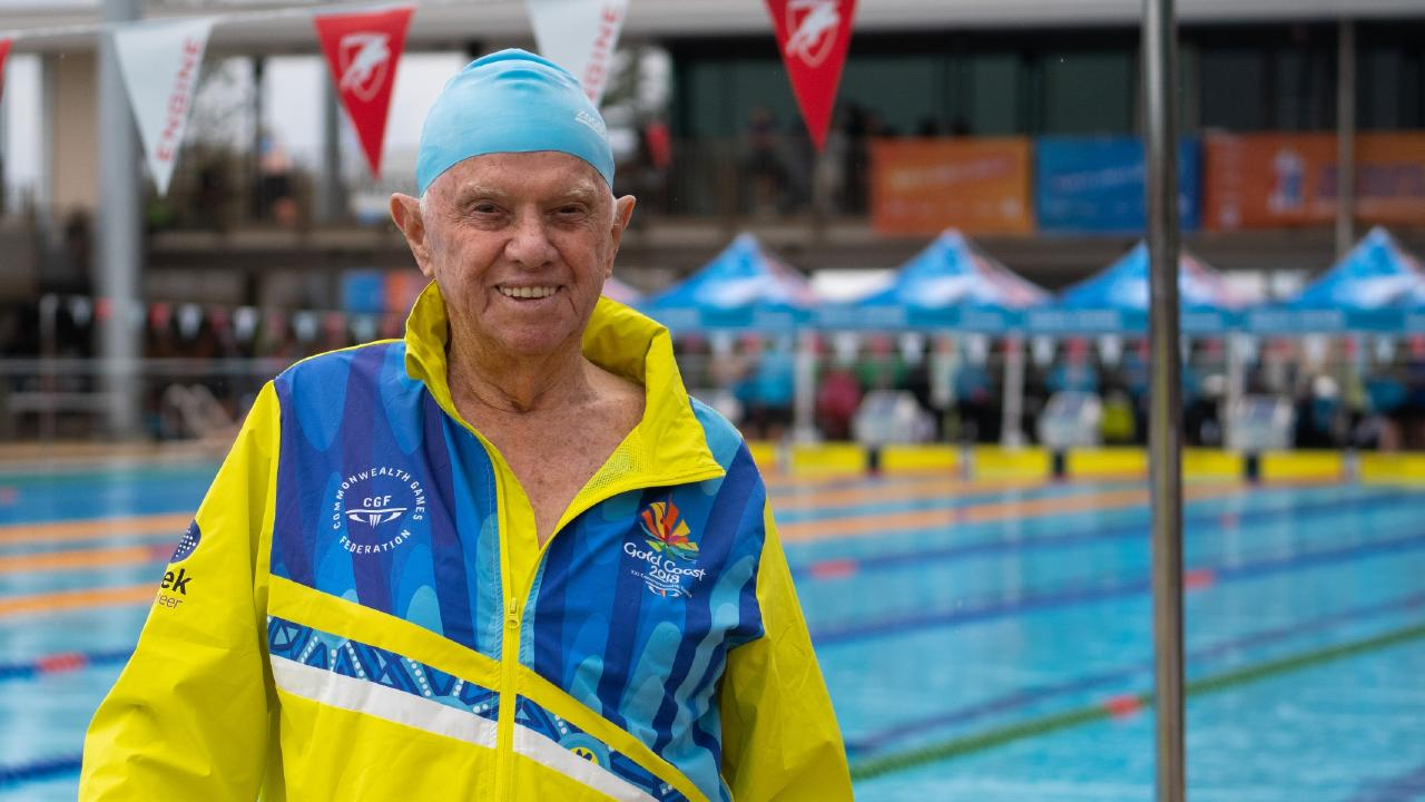 93-year-old athlete Don Robertson. Photo: Supplied