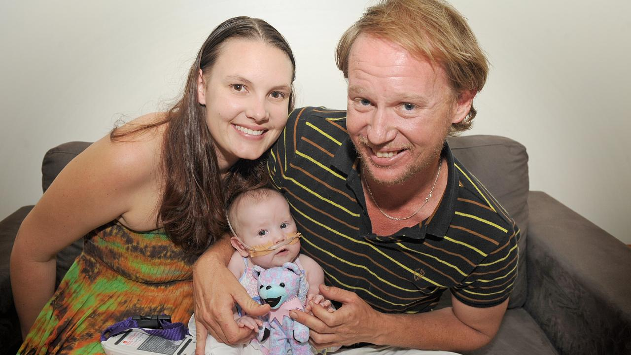 Marley pictured at 4 1/2 months with proud parents Jeff and Mikayla.