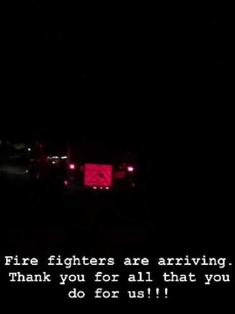 And also thanked the firefighters for their service.  Picture:  Instagram