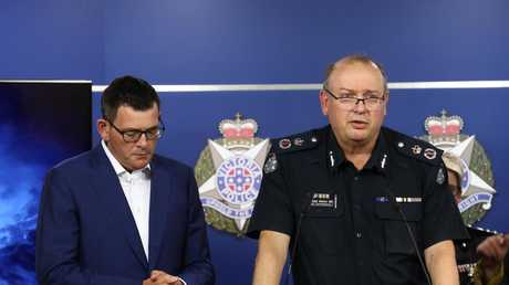 CCP Graham Ashton speaks to the media. Picture: Robert Cianflone/Getty Images