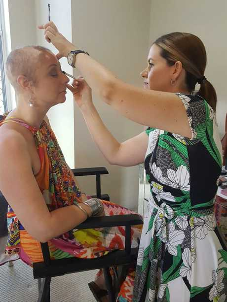 Townsville woman Taryn Claire Le Nu during her breast cancer treatment.