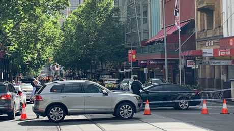 Bourke Street was blocked off until around 7am this morning.