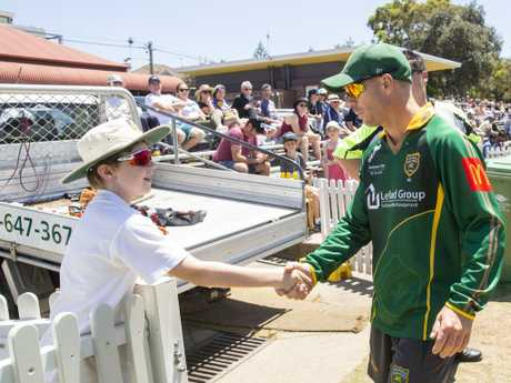 David Warner was out early and spent quality time with the juniors.
