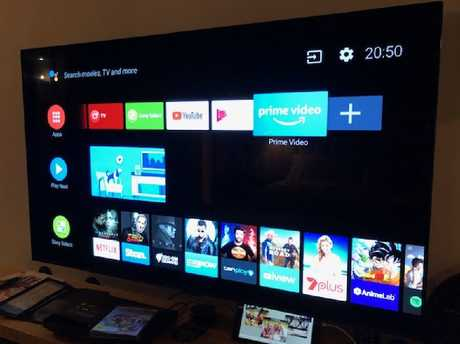The TV comes preloaded with the latest Android TV OS, Oreo.