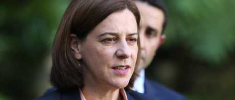Opposition leader Deb Frecklington. (AAP Image/Richard Waugh)