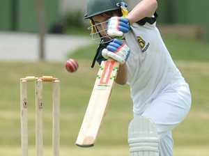 Cooper Young batting during an Ipswich u12
