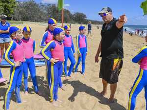 Matt Canniffe with the under 9's nippers.