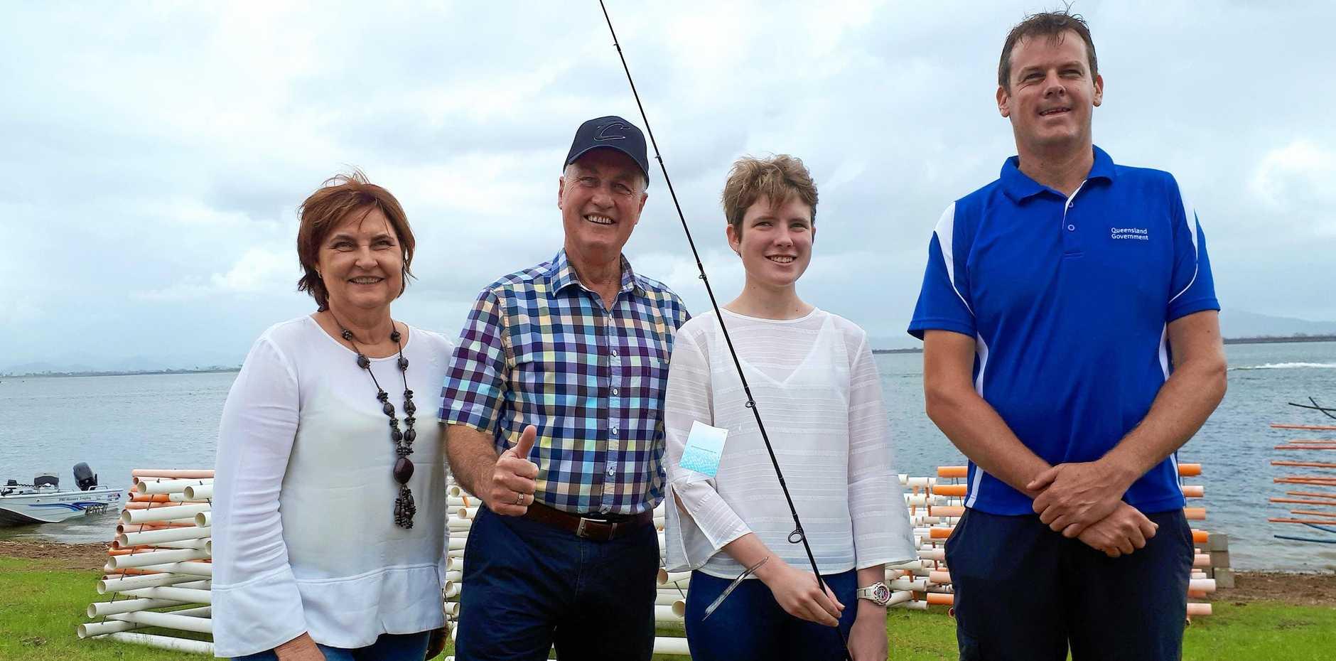 NEW PROJECT: Julianne Gilbert, Greg Williamson, Kirsty Edwards, and David Nixon visited Kinchant Dam on Saturday.