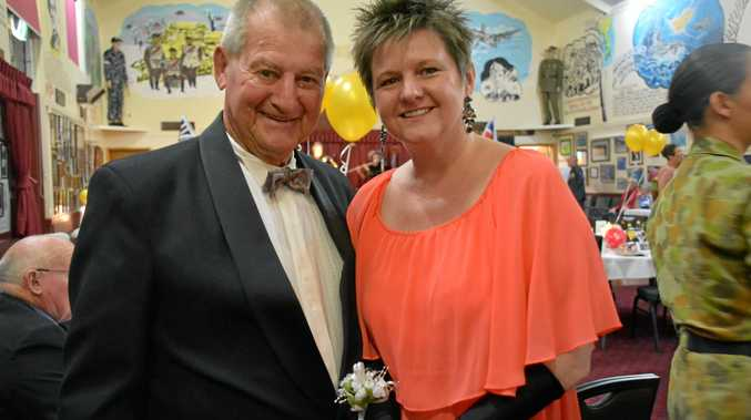 SPECIAL NIGHT: Ron Jinks and Jennifer Cox at the Armistice Day ball in Nanango on November 10.