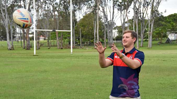 PUMPED: Calliope Roosters president Cameron Masters is looking forward to the City v County charity match.