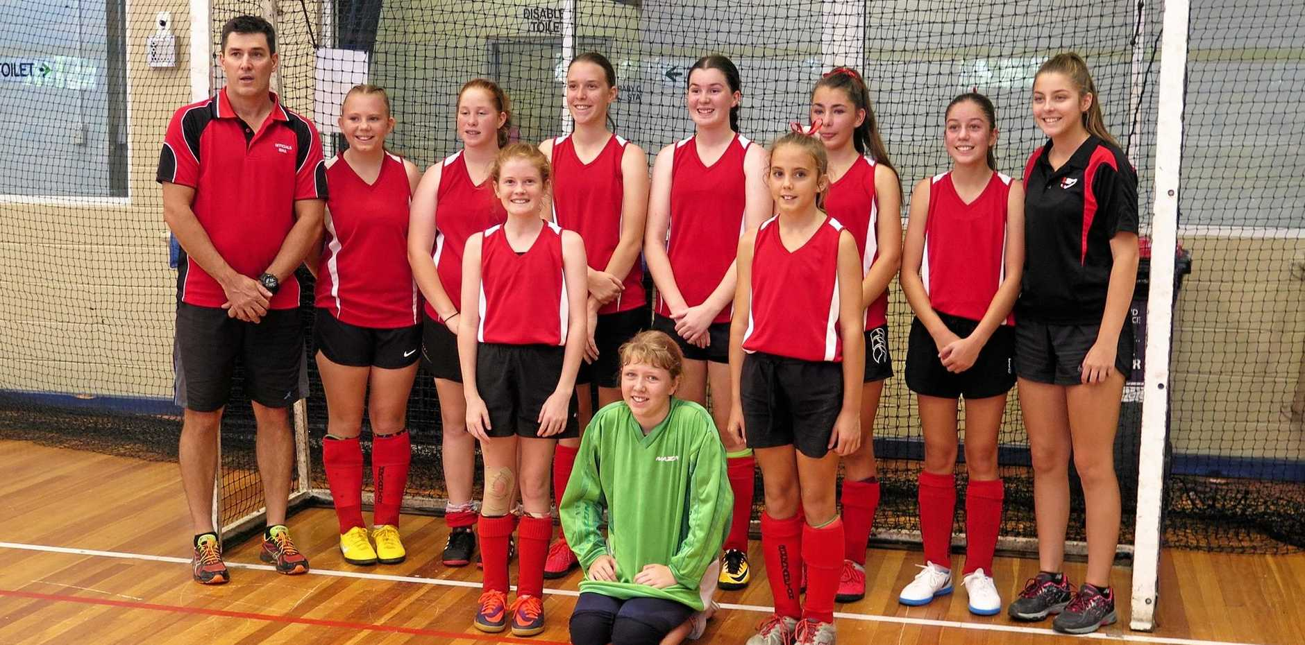 The Rockhampton Red team finished runners-up in Division 2 in the Queensland under-13 indoor hockey challenge.