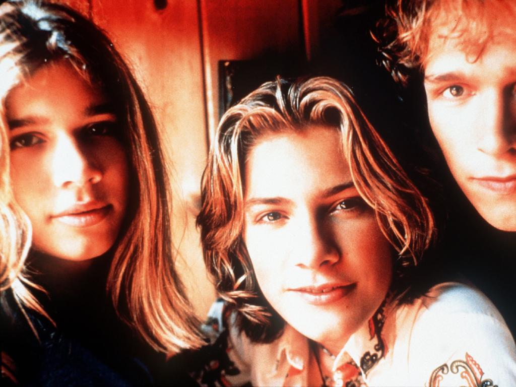 Singer musician Zachary Hanson with brothers Taylor and Isaac from pop band Hanson. Picture: Supplied