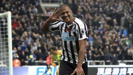 Newcastle United's Salomon Rondon celebrates scoring his side's second goal