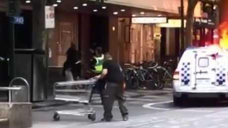Bourke Street trolley hero Michael Rogers. Source: Twitter