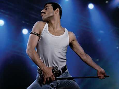 Remi Malek makes an unforgettable appearance as a virtual frontman. Image: Twentieth Century Fox