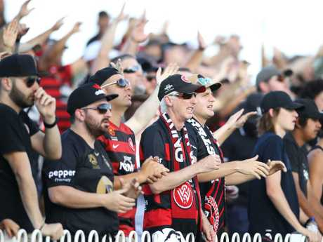 Most Wanderers fans were respectful and in full voice in Mudgee.