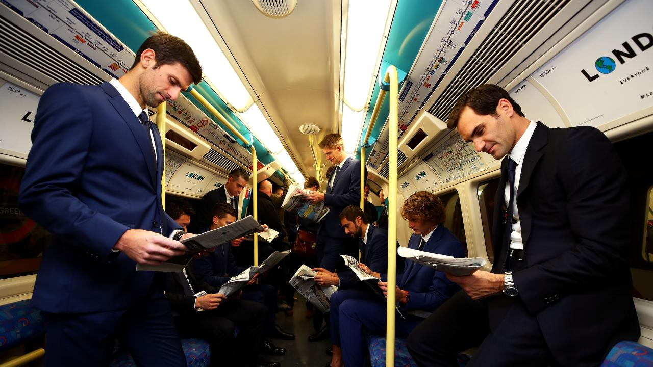 The Nitto ATP Finals must be in trouble, forcing the world's best players to take the train.