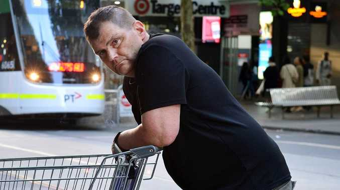 "Michael Rogers, dubbed ""trolley man"", has been hailed a hero on social media. Picture: Nicki Connolly."