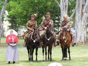 Nurse Judith Molloy with light horse men and women