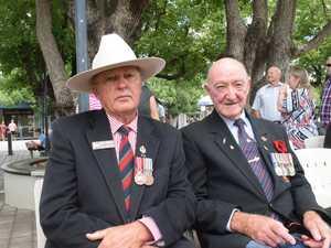 Toby Trebilco and John Moffatt at the Chinchilla