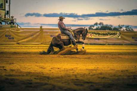Ken May competing in the Horse of the North Stockman's Challenge, Charters Towers, in June 2017.