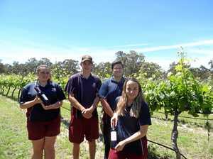Senior students serve up tasty award-winning wine at awards