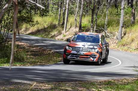 Cricks Volkswagen Sunshine Coast offered charity thrill rides up the Hill in a race prepared VW Amarok ute.