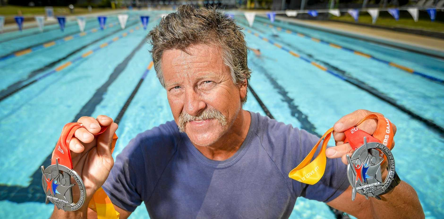 FIGHTING FIT: Murray Chapman, 55, said he was met with some challenges on the Gold Coast. But the training program he did under coach Tom Fronek, put him in good stead.