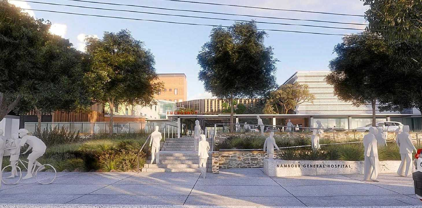 INCREASED SERVICES: An artist's render of the Nambour Hospital from Hospital Road after an $86 million redevelopment, which will create and expand on current services.